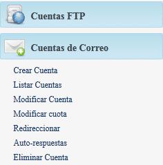 configuracion correos