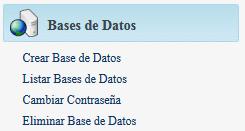 hosting base de datos